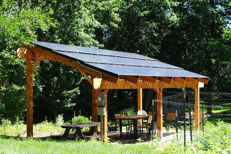 Howey6 Solar Panels Pergola Backyard Canopy