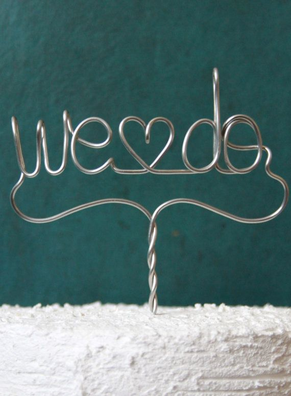 We Do With a Twist  Wedding Cake Topper by deliziare on Etsy, $25.00