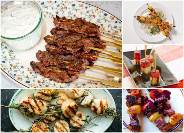 skewers with blue cheese dip pork and pineapple skewers pineapple and ...