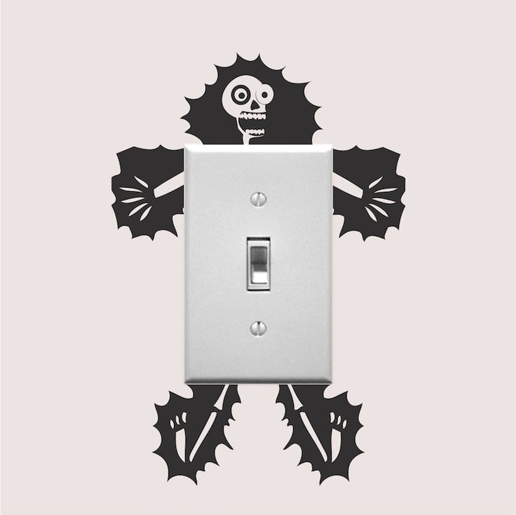 Electrocuted Guy Outlet Decal Sticker _ Vinyl Wall Stickers For Outlets _ Light Switch Sticker Designs _ Official Site Trendy Wall Designs