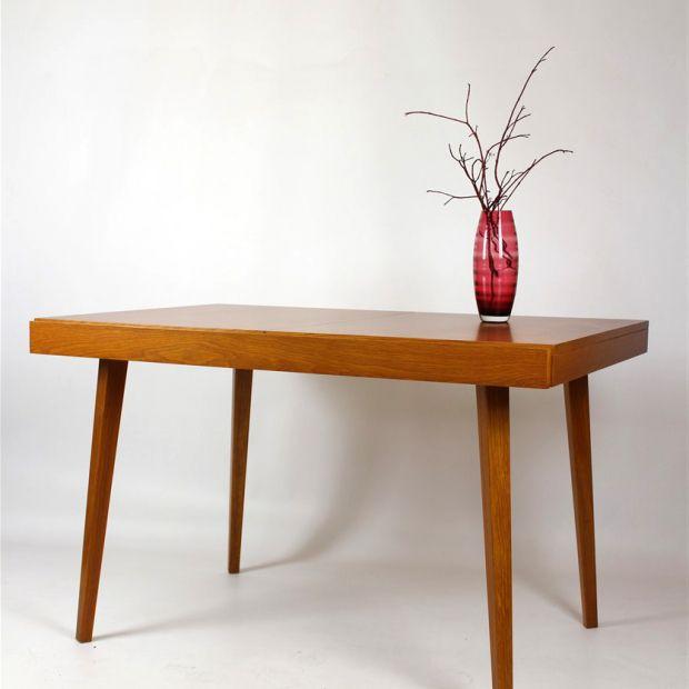 Rozkładany stół jadalniany, Jitona, lata '60. | Fold-out dinner table, Jitona, 60s. | buy on Patyna.pl |#forsale #vintage #vintagefinds #vintageshop #vintagelove #retro #old #design #home #midcenturymodern #want #amazing #home #inspiration #kitchen #decoration #furniture #table #jitona #Czechoslovakia #dinner #wooden #60s #1960s #Wyrobki
