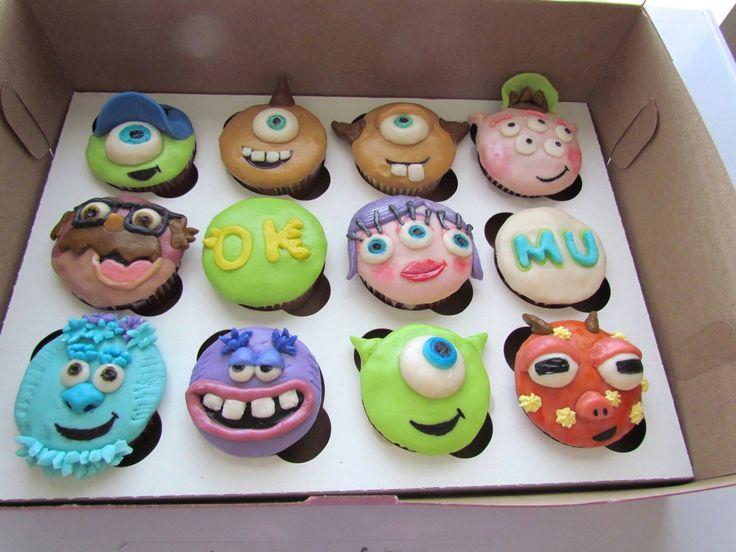 Monsters University Cupcakes--but instead use paper for easy door decs