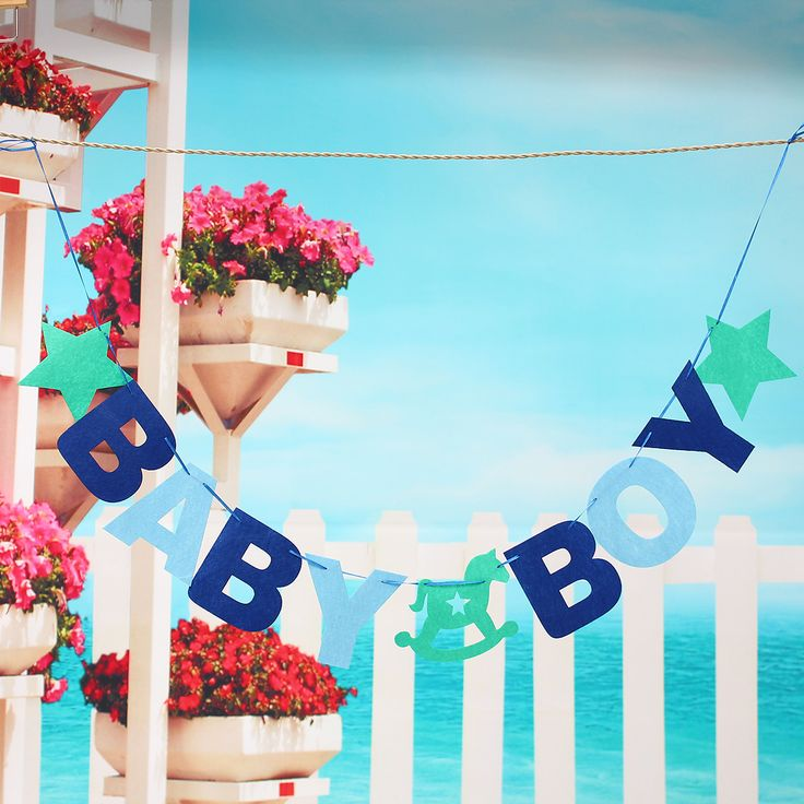Buy BABY BOY Baby Shower Bunting Garland Hanging Banner Flag Christening Party Decorfor R59.70