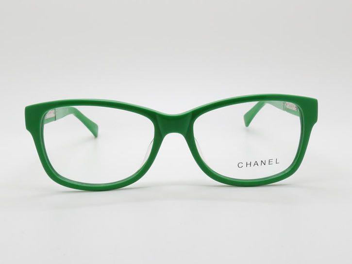 Green Acetate Full-rim Frame Eyeglasses Branded Optical Frames Chanel 3232q C.1344