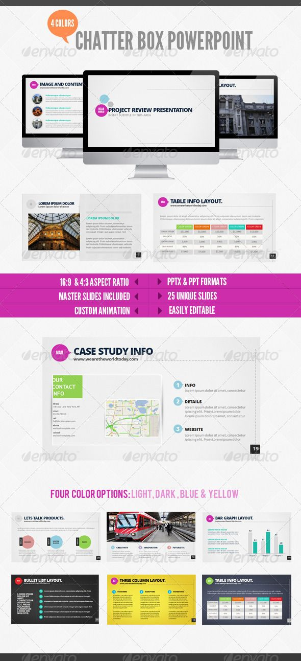 55 best design images on pinterest website catalog and creative chatterbox powerpoint ppt fileindesign templatespresentation toneelgroepblik Choice Image