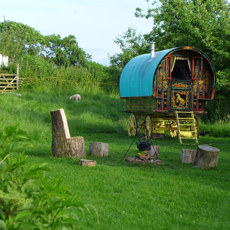 Stay in this beautiful gypsy caravan and have the most relaxing time of your life