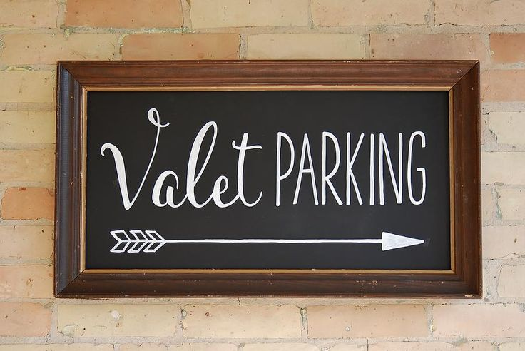 Valet Parking chalkboard sign art custom made by AVH of www.i-do-signs.com.
