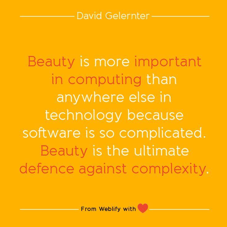 Inspiring coding quotes: David Gelernter