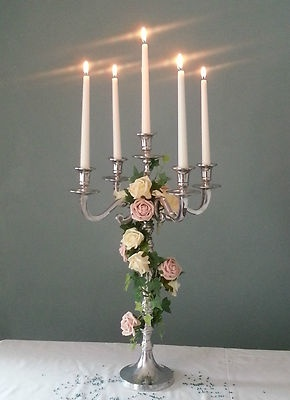 STUNNING SILVER 60cm WEDDING CANDELABRA CENTREPIECES FOR HIRE £17                                                                                                                                                     More