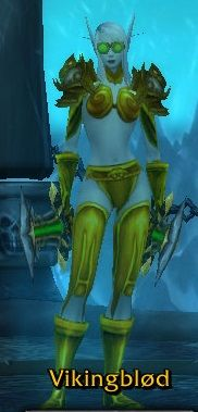 *Gold Plate Xmog w/ Cosmetic Headpiece* **Head - Gnomish Goggles**Shoulders - Spaulders of the Thalassian Savior - **Chest - Glorious Breastplate - **Wrist - Glorious Bindings - **Hands - Glorious Gauntlets **Waist - Glorious Belt **Legs - Glorious Legplates **Feet - Glorious Sabatons **Weapon - Talon of Azshara