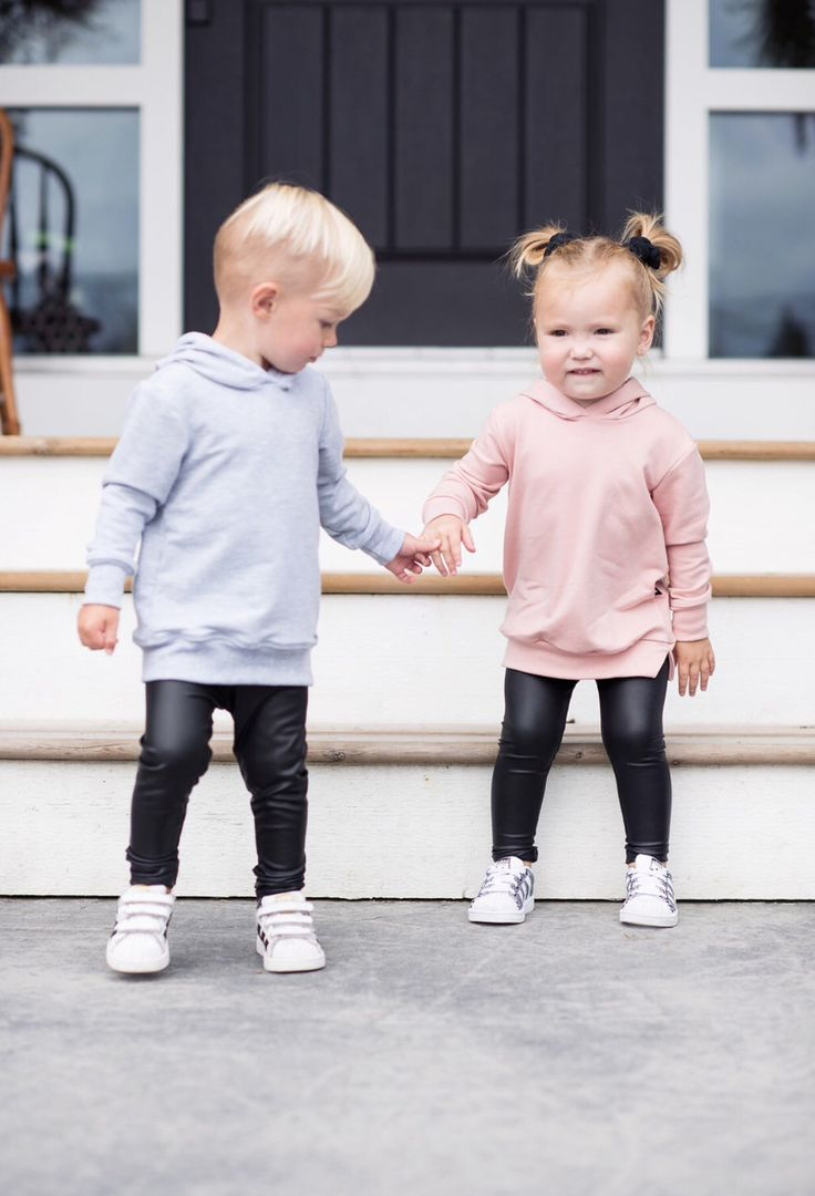 Infant and toddler faux leather leggings, bamboo hoodies with our favorite Adidas superstars  By Tiny Button Apparel