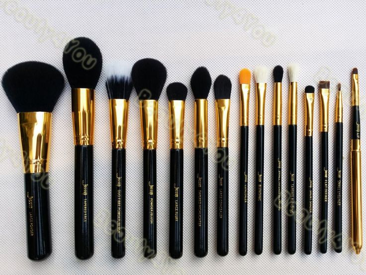 17.33 Jessup Pro 15pcs Makeup Brushes Set Powder Foundation Eyeshadow Eyeliner Lip Brush Tool Black and Gold-in Makeup Brushes & Tools from Beauty & Health on Aliexpress.com | Alibaba Group