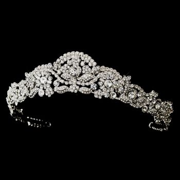 Majestic Antique Silver Rhinestone Wedding Tiara! regal! specialoccasionsforless.com