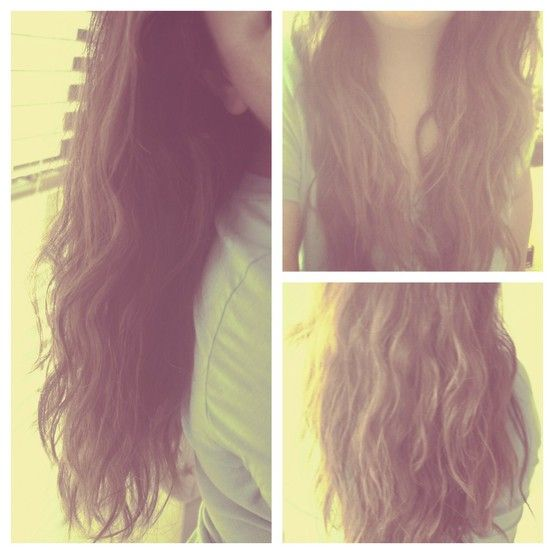 How To: Mermaid Waves--use a t-shirt to scrunch hair & no frizzy hair! - The Beauty Thesis