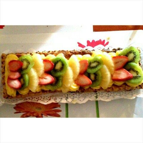 Hojaldre de crema&frutas