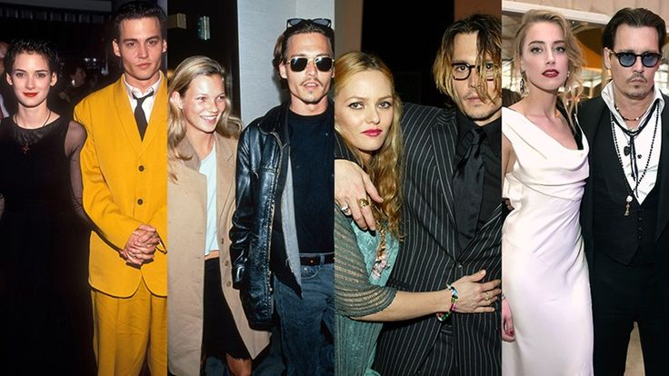 A Detailed History of Johnny Depp's Many Loves |  Fri, May 27, 2016 |  ICYMI, the latest in sad, Hollywood break-up news is that Johnny Depp and Amber Heard are divorcing after only 15 months of marriage.