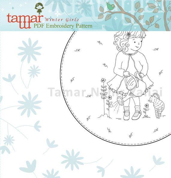 Bordado patrones diseño de bordados Instant por TamarNahirYanai