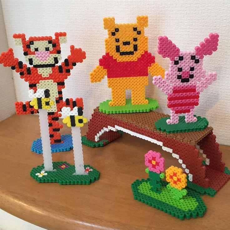 Winnie and friends perler beads by Handmade JUN