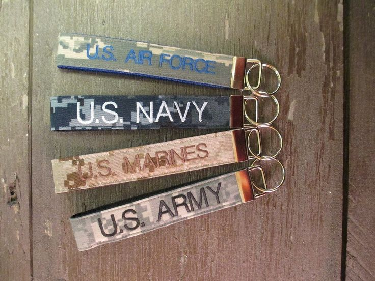 Army, Navy, Air Force, Marine Name Tape Key Chain, Personalized Military Keychain, Military Key Fob, Military Branch Key Fob by MilitaryApparelCo on Etsy