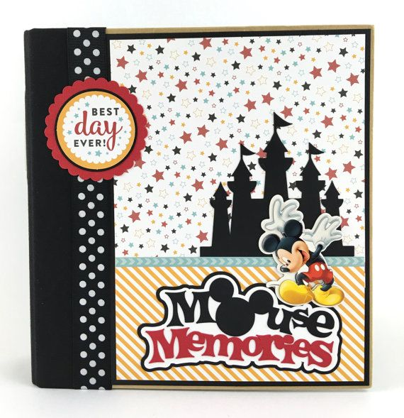 Kit de Disney Scrapbook Album DIY o Premade vacaciones 24