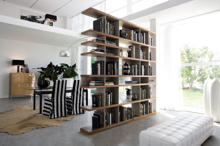 #charlotte our modular #bookcase • can be used either to divide spaces as a self-standing element both against the wall #silenia #madeinitaly