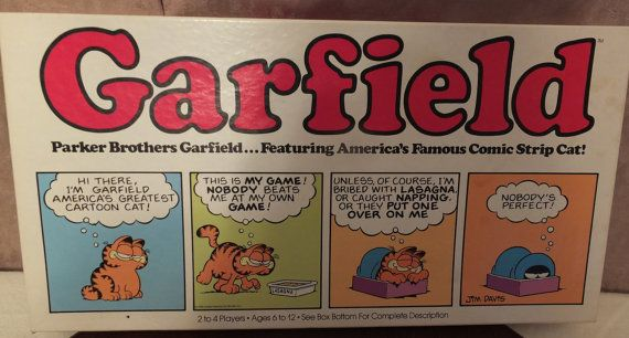 Parker Brothers Garfield Board Game 1981 Complete