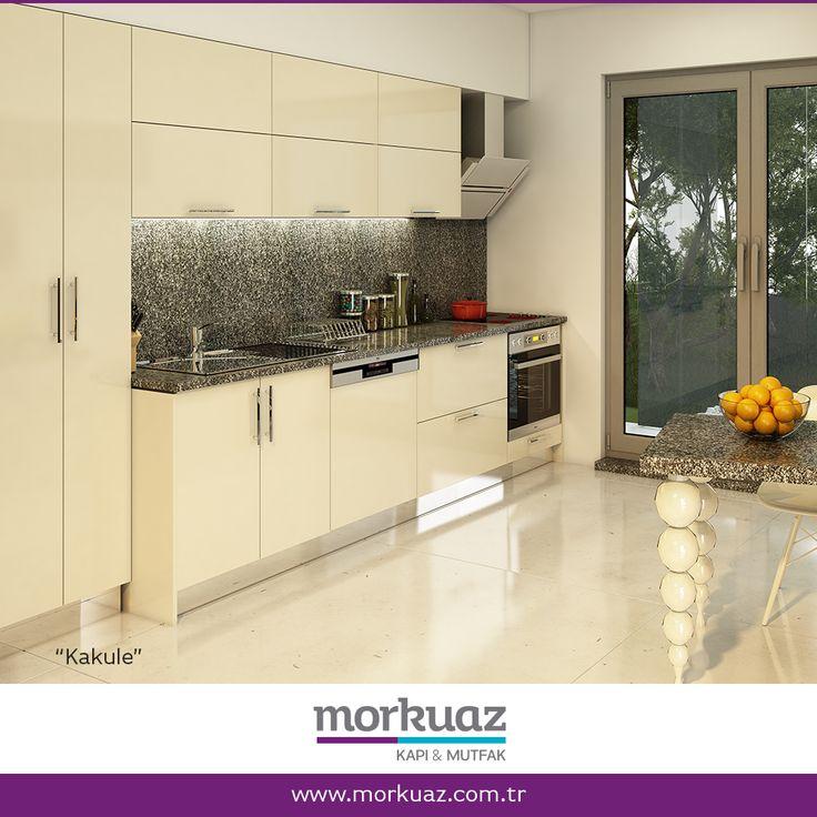 """""""İlk bakışta sade, detaylarda zengin, tasarım harikası bir mutfak. Mekandan tasarruf etmeyi seven, pratik aşçıların tercihi. Tıpkı kakule bitkisi gibi gösterişten çok işlevselliği ile dikkat çekiyor.""""    """"Kakule"""" ve diğer mutfak modelleri için: http://www.morkuaz.com.tr/mutfak  ya da 444 8 716 'yı arayabilirsiniz.    #morkuaz #mutfak #kakule  #kitchen #mutfakdolabı #interior #interiordesign #interiors #homedesign #interiordecor #decor"""