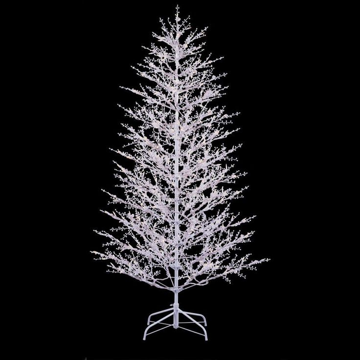 GE 7 Ft. White Winter Berry Branch Artificial Christmas
