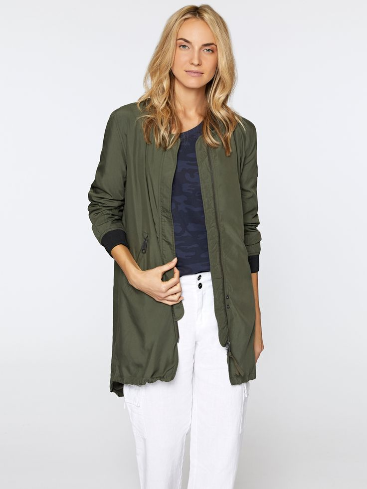 Model is 5'11' and wearing a size S Front Length 33 1/2' Back Length 37' Sleeve Length from CB 32 1/2' 70% Modal, 30% Polyester, Lining: 100% Polyester Machine Wash Cold, Line Dry Import