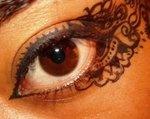 Henna patterns drawn into my eyes with liquid eyeliner