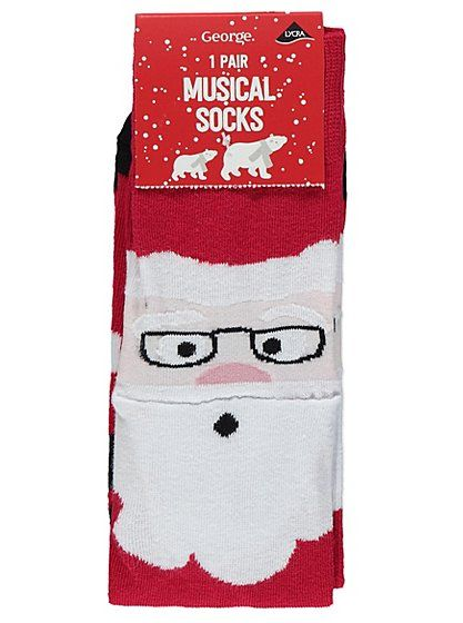 Christmas Musical Santa Socks, read reviews and buy online at George at ASDA. Shop from our latest range in Men. 'Are your toes singing us a tune?' they ask...