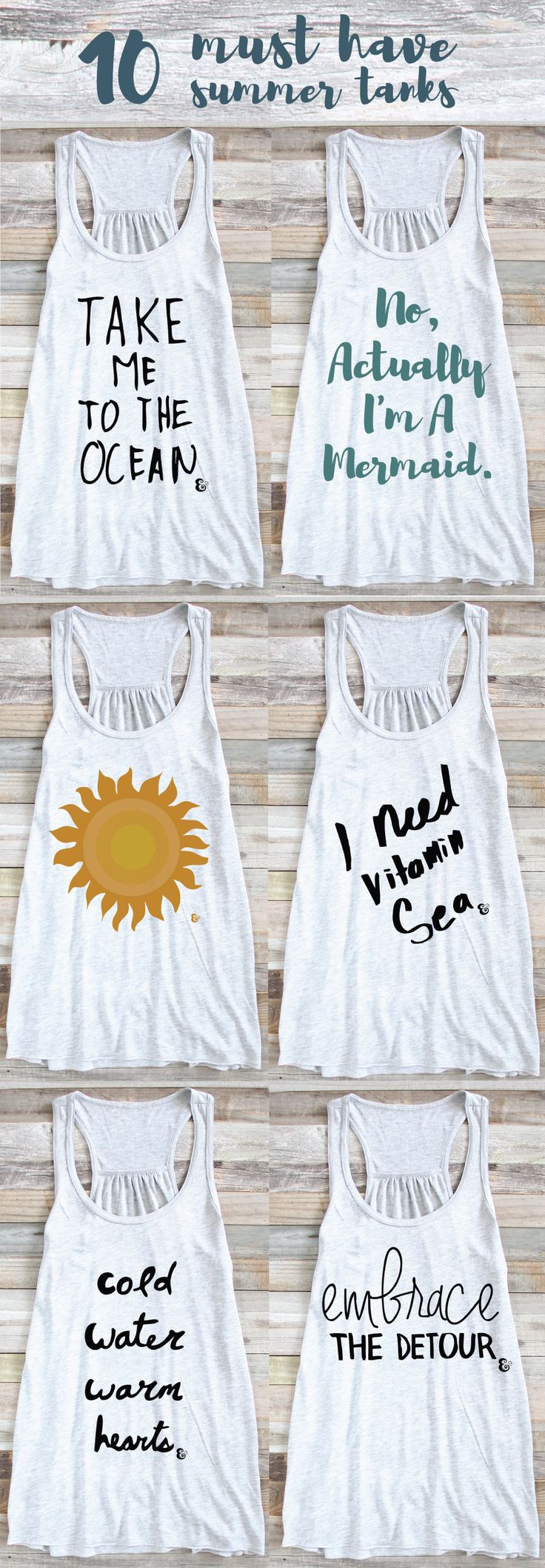 10 Must Have Summer Tank Tops - Beach Tank Tops - Summer Inspiration