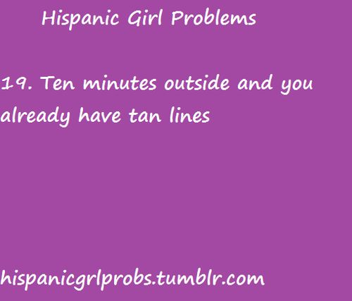 Hispanic girl problems