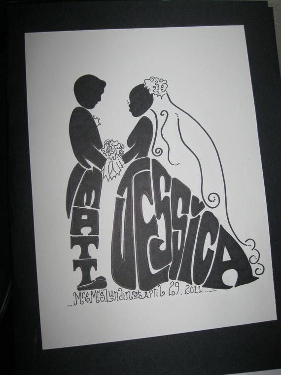 individualisierte Hochzeitskarte
