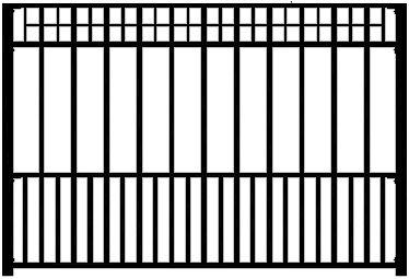 Athena Wrought Iron Fence Panel