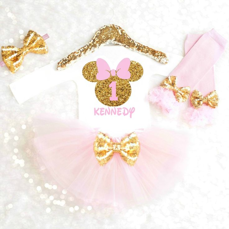 Minnie Mouse Birthday Outfit for any age! Personalized with your child's name and age. Can be made in any colors!