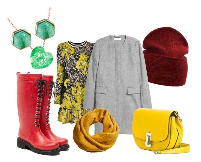 Bright Fall by saanah on Polyvore featuring Twin-Set, Ilse Jacobsen Hornbaek, Marc Jacobs, Melrose & Market, MANGO, outfit, yellow, red and fall2017