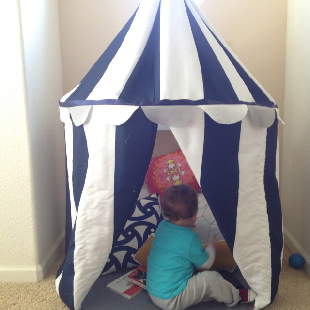 Ikea hack Nautical stripes Playroom Circus Tent or Reading Nook & 152 best Day care images on Pinterest | Child room Play rooms and ...