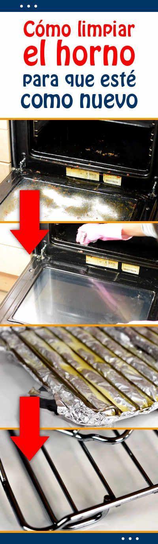 Cómo #limpiar el #horno para que esté como nuevo #limpieza #cocina #tips #consejos
