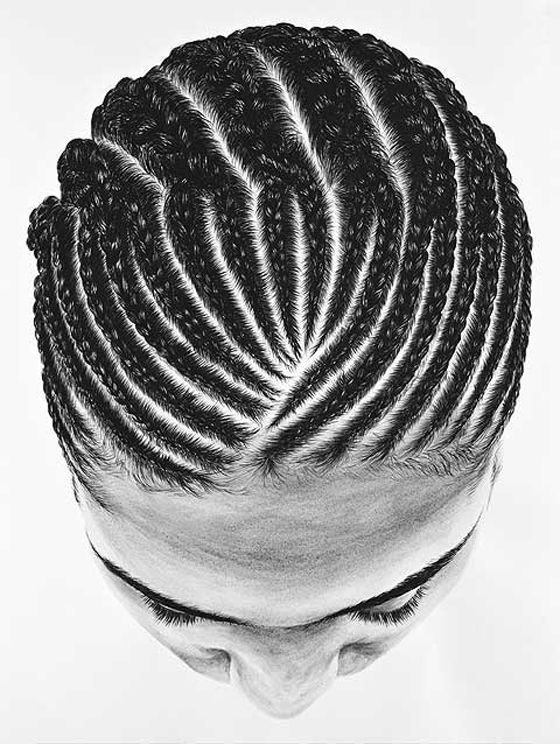 Good Cornrows braid pattern for a crochet style. But results in a lot of hair at the front.