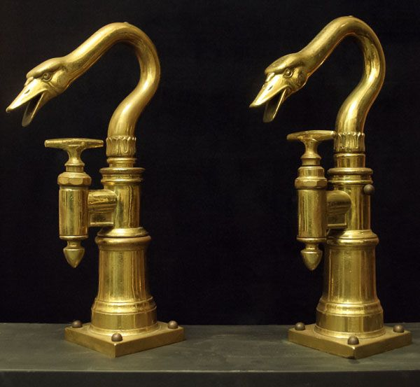 Pair of Swan Form Beer Taps. This and more important decorative art for sale on CuratorsEye.com