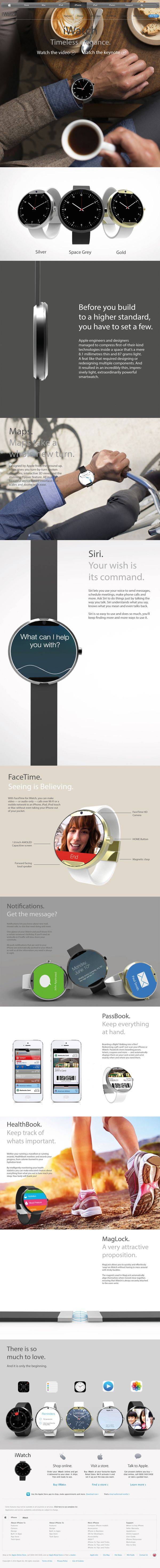 Apple iWatch Concept by Dominic Waring, via Behance