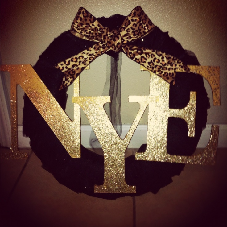 ModgePodge and Gold Glitter on wood letters