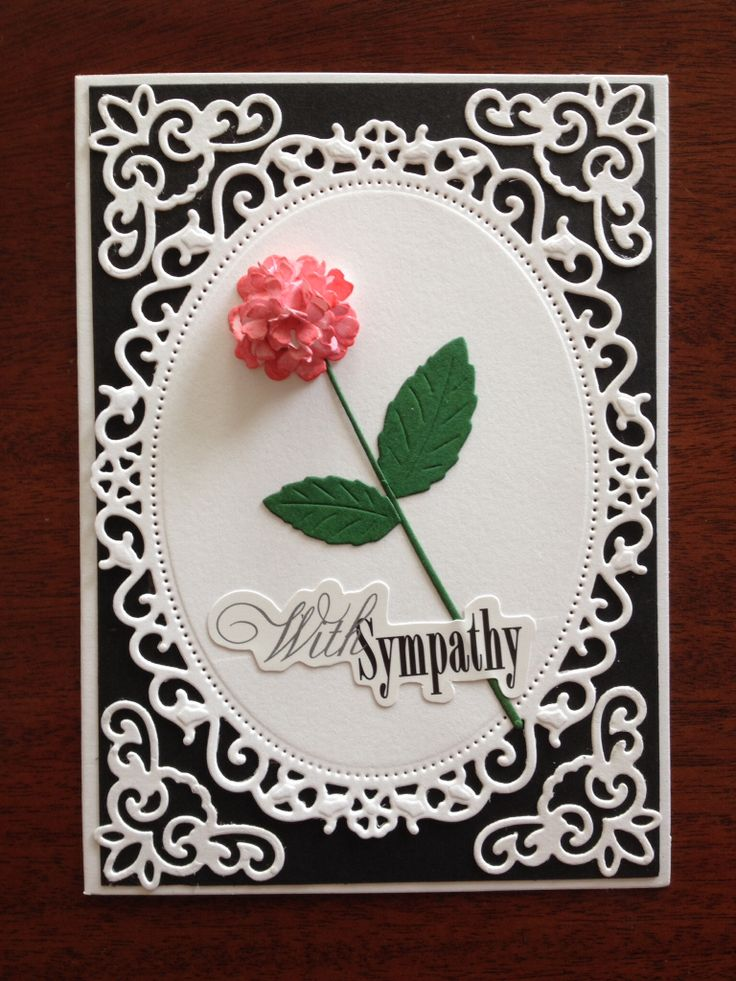 Sympathy card using Spellbinders dies