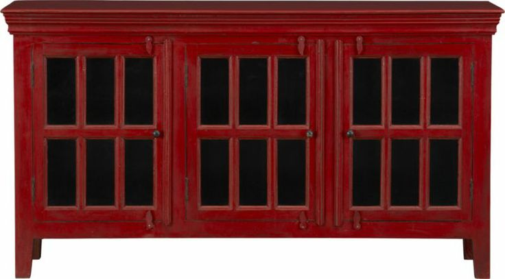"""Rojo Red 62"""" Media Console    Crate - Why do I love red furniture, doctor?"""