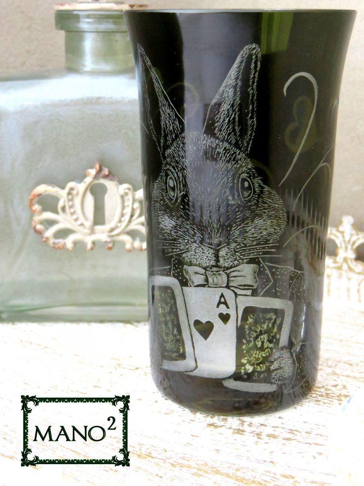 不思議の国 三月うさぎビールグラスの画像1枚目