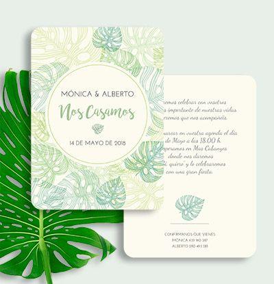 Invitaciones Jungle