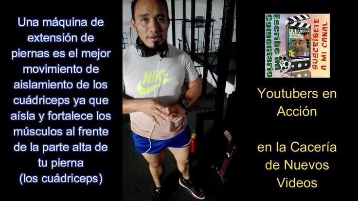 Entrenamiento de Javier Hdz con Máquina de Extensiones y Femoral Acostad...