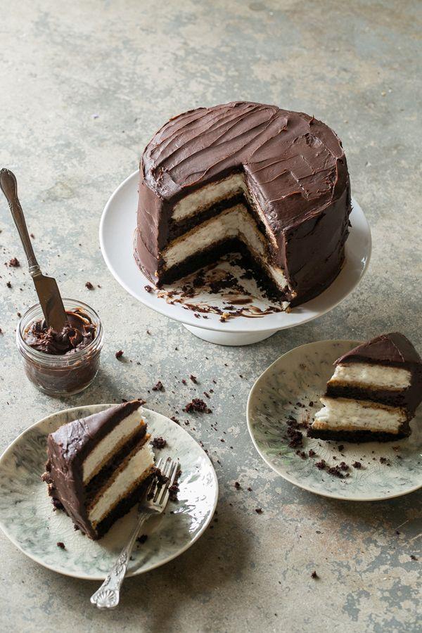 Heaven & Hell Cake Recipe #chocolate #cake