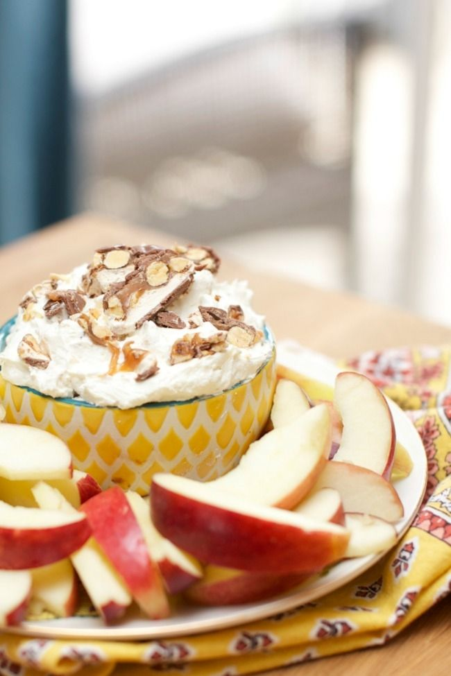 SNICKERS® Almond Cheesecake Fruit Dip